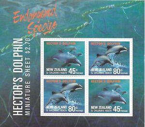 NEW ZEALAND Hector's Dolphin Mini Sheet MINT NH