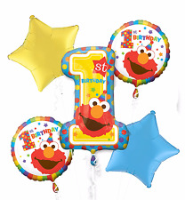 Sesame Street 1st Birthday Balloon Bouquet Party Supplies Decoration Favor ~ 5pc