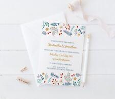 Winter Floral Christmas theme Wedding Invitation SAMPLE Set Wedding Stationery