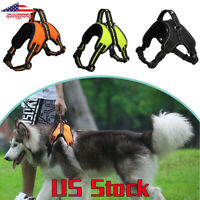 Pets Lead Leash Rope Collar Reflective Large Dog Harness Husky Collie Bulldog US