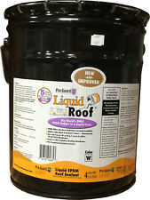 Liquid Roof  EPDM RV roof coating - 4 Gallon -for roof leaks, repair, sealing