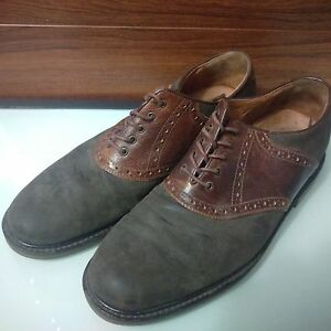 Johnston & Murphy Olive Suede Lace Up Oxford Men's Shoes Size 10.5 M