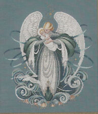 Lavender and Lace  Angel of the Sea cross stitch pattern  LL37  Angel and infant
