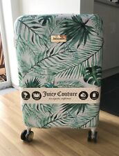 """New Juicy Couture White Tropical Spinning Wheels 25"""" Luggage / Suitcase"""