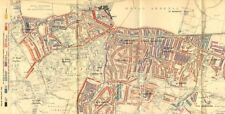 WOOLWICH. Charles Booth la povertà MAP. plumstead Charlton Shooter'S HILL 1902