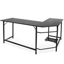 Computer Gaming Laptop Table L-Shaped Desk Corner Workstation Office Home Desk