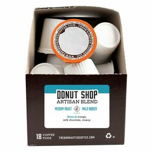 Donut Shop Artisan Blend | 72 K-Cups, 2.0 Compatible | Fresh Roasted Coffee