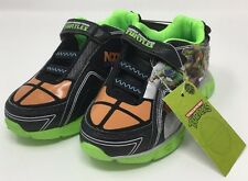 Teenage Mutant Ninja Turtles Boys Size 9 Ninjas In Training Sneakers Black/Green