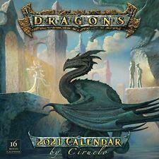 2021 Dragons by Ciruelo 16-Month Wall Calendar