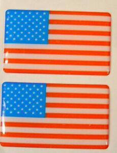 NEW PAIR OF DECAL USA FLAG MG VOLVO VW MAZDA CITROEN BADGE BADGES