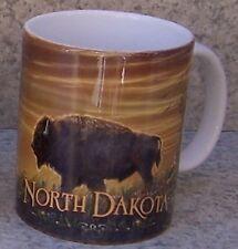 Coffee Mug Explore America North Dakota Bison NEW 11 ounce cup with gift box