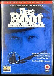 Das Boot DVD 1981 German World War II U-Boat Drama Movie Director's Cut