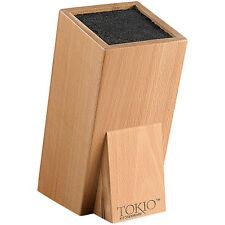 Messerhalter: Universal-Messerblock aus Holz mit Borsteneinsatz