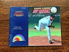 Roger Clemens MVP Baseball NES Nintendo Instruction Manual Only