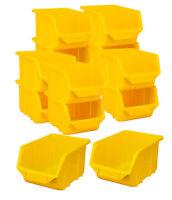 159628 100 x Sichtlagerkästen Sichtlagerkasten Lagerbox Sichtbox Box gelb 23392