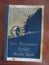 1935 Reverend Heumann's Family Health Book Medical Medicine Illustrated Catalog