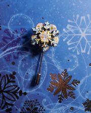 HANDMADE HAND PAINTED Christmas SNOWFLAKE PIN Festive Frozen Flower Lapel Brooch