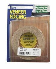 "Band-It 34210 Real Wood Veneer Iron-On Edgebanding 3/4"" x 25' Red Oak"