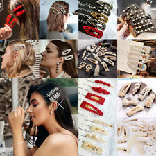 100Pcs Fashion Girl Pearl Hair Clip Hairband Comb Bobby Pin Barrette Hairpin New