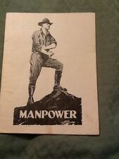 1919 Manpower Propaganda Health STD Booklet Men Army Navy Sex Venereal Disease