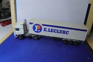 MAJORETTE ancienne 1/60 camion Volvo semi-remorque promotionnel E. Leclerc