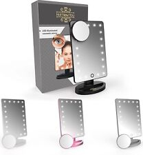Make Up Mirror with Light LED 21 Lights and Magnifier 10x Magnification (removab