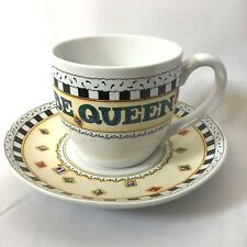 Mary Engelbreit Me Tea Cup And Saucer It's good To Be Queen Coffee Cup