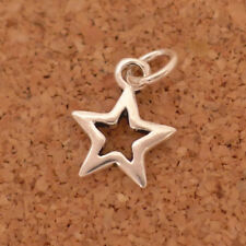 Solid Sterling Silver Hollow Lucky Bright Star Necklace Bracelet Pendant Charm I