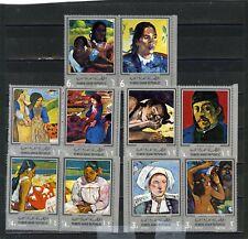 Yémen Arabe République 3167.2km 630-639 tableaux par Gauguin Ensemble de 10