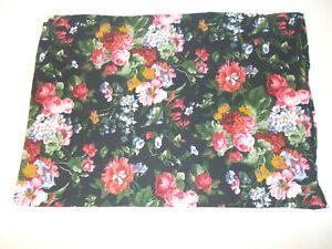 Rare Ralph Lauren Cossette Isadora Black Floral Standard Pillowcase