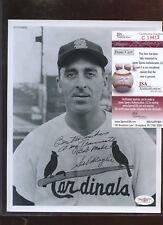 Sal Maglie St. Louis Cardinals Autographed 8 X 10 Photo JSA Cert