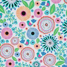 Pretty Petunia & Birdies Tissue Paper # 315 ~ 10 Large Sheets