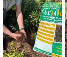 150 Litres NATURAL STRAW STRULCH Mulch Slug Deterrent Weed Control 150L BAG