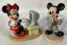 RARE! Disney Businessman Mickey & Secretary Minnie Porcelain Figurines Sri Lanka