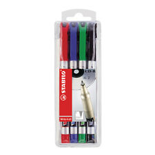STABILO WRITE-4-ALL FINE TIP PERMANENT MARKER PEN / 4 COLOUR PACK / 156/4