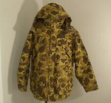 Vtg Remington Woodland CAMO GORE-TEX Hunting THERMOLITE HOODED Canvas Jacket 2XL