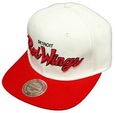Mitchell & Ness and Detroit Red Wings NL23Z Throwback Snapback Cap weiss white