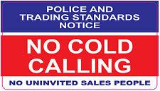 [ 1No- 140x80mm ]P- NO COLD CALLERS - NO UNINVITED SALES PEOPLE | door stickers