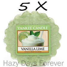 5 YANKEE CANDLE WAX TARTS TARTLETS Vanilla Lime BUY 2+ SAVE 20% citrus