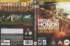 Medal Of Honor Warfighter Limited Edition PC DVD USA Version Sealed New