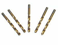 "5pc 7/64"" Titanium Coated Profesional Twist Drill Bit HSS For Drilling Metal"