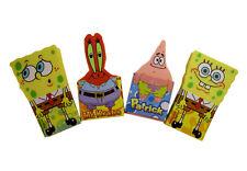Set x 4  Brand new Spongebob Squarepants Krabs Patrick School Supply Erasers