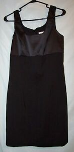 Alyn Paige Solid Black Satin Above Knee Sleeveless Bodycon Dress Sz M Juniors