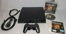 New listing Playstation 3 Ps3 Slim Cech-2001A 120Gb Console Complete w/ Minecraft