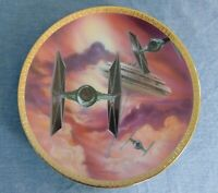 Star Wars Space Vehicles Tie Fighters Hamilton Collection Plate Original 1995