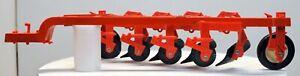 ERTL 1/16 Scale ALLIS-CHALMERS Orange Four Bottom Plow; Excellent Condition
