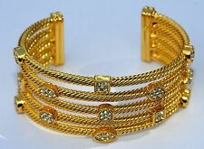 GOLD DIAMANTE CLEOPATRA BANGLE NEW REDUCED CLEARANCE