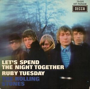 """ROLLING STONES - Let's Spend The Night Together / Ruby Tuesday  7"""" France"""