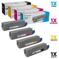 LD Compatible Replacements for Okidata C612 Toners: Black, Cyan, Magenta, Yellow