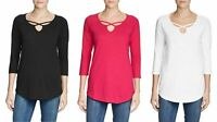Eddie Bauer Ladies' ¾ Sleeve Cross-Front Tunic, Colors and Sizes, NWT